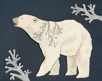 Majestic Polar Bear print