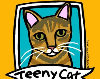 Personalized Tabby Cat Portrait : FREE SHIPPING