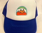 Youth Trucker Hat- with Five Mountain Patch- Kids Trucker Hat