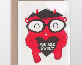 You Are Sweet Monster Card