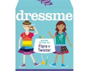 Dressme Pattern Set - Flare & Twister Dresses - Sizes 6+–14