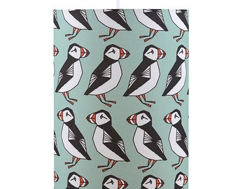 Puffins Drum Lamp Shade