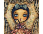 Me in a box - Giclee print reproduction of an original mixed media painting by Danita Art