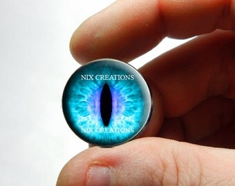 Glass Eyes - Teal Purple Dragon Glass Eyes Glass Taxidermy Doll Eyeball Cabochons - Pair or Single - You Choose Size