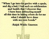 With my own hands -Garden Spade Letterpress Quote Card