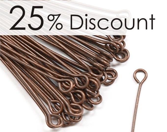 EPBAC-5021 - Eye Pin, 2 in/21 ga, Antique Copper - 500 Pieces (10pk)