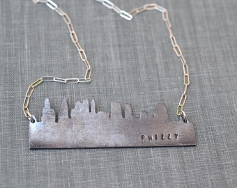 Philadelphia Skyline Necklace