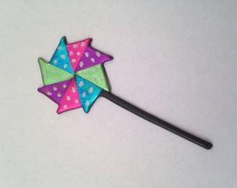 Polka Dot Pinwheel Pin