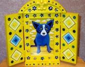Blue Dog Shrine Frame No 2