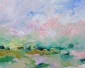 Landscape Abstract Acrylic Painting Giclee Print Impressionist Art Surreal Made To Order Large Fine Art Print Wall Decor by Linda Monfort