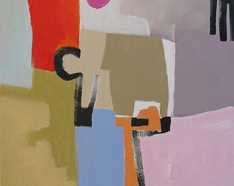 Geometric Abstract Painting Giclee Print From Original Abstract Expressionist Painting Modern Art Made To Order Fine Art Print Linda Monfort