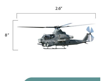 AH-1 Cobra Marine Helicopter Decal