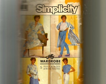 Simplicity Misses' Skirt, Pants, Top, Shirt and Duster Coat Pattern 7881