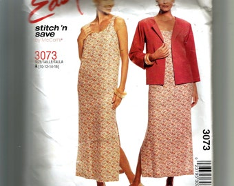 McCall's Misses' Unlined Jacket and Dress Pattern 3073