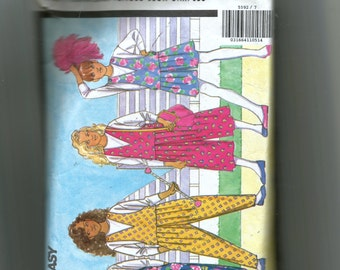 Butterick Child's Jumpsuit and Top Pattern 5592