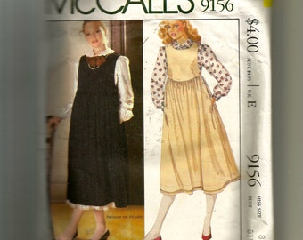 McCall's Misses' Blouse and Jumper Pattern 9156