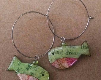 wearables...earrings...funky fish hoops