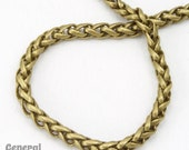 3mm Antique Brass Wheat Chain #CCE214