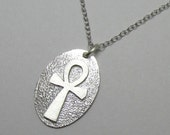 Ankh Egyptian Symbol of Life Sterling Silver Pendant Necklace