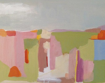 abstract painting, abstract landscape, original acrylic on wood panel, 18x18 abstract pamela munger, modern art, contemporary art,