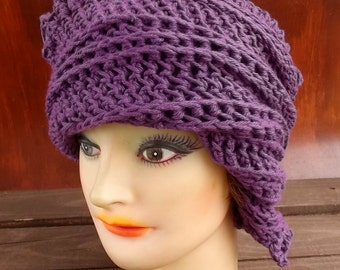Mulberry Purple Crochet Hat Womens Hat Trendy, Floppy Sun Hat, Summer Hat Woman, Mulberry Purple Hat, Lauren Crochet Bucket Hat Women
