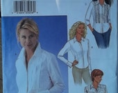Butterick 3525 BLOUSE Pattern Sleeve Collar Variations Uncut Size 12 14 16