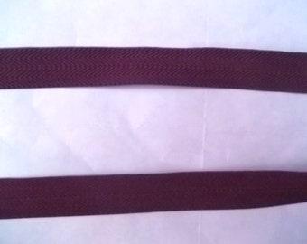 Foldover Elastic 5/8 Morel BROWN Chevron 5 yds. Headbands Hair Ties Doll Clothes