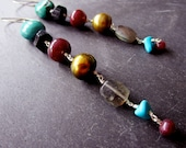 Royal LUXE Gemstone Earrings - Ruby Turquoise - Black Tourmaline - Pearls - Labradorite - Sterling Silver - catROCKS - Artisan - Etsy Rubies