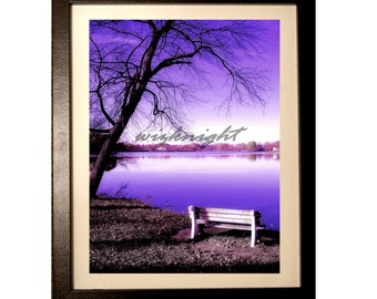 Landscape Lake Photo Wall Art Home Decor 8x10 Photo 11x14 Frame and Matted Landscape Photography