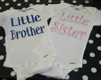 Boutique Little Brother, Little Sister Bodysuit-T-shirt