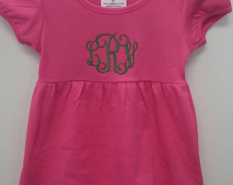 Boutique ~ Monogrammed ~Embroidered~ Girls Knit Ruffle Dress