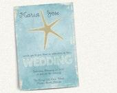 Starfish Wedding Invitation  Template  Wedding Invitation Printable  Wedding Invitation Suite  Beach Wedding  No 19