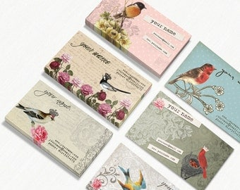 Business Cards  Custom Business Cards  Personalized Business Cards  Business Card Template  Vintage Business Cards  Bird Business Cards 2