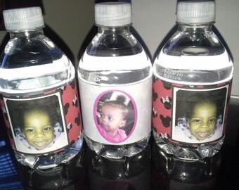 Kids Water Bottle Favor Labels