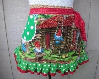 Aprons - Gnome  Aprons - Handy Gnomes Aprons - Handmade Aprons with Pockets - Handy Gnomes Aprons - ETSY Aprons - Annies Attic Aprons