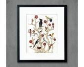 Birds of Africa Tree of Life Print