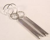 Sterling Silver long Dangle earrings SS