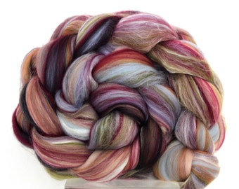 Merino Wool Roving -  Luxury Merino and Silk Blend Combed Top 50g 100g 500g Tapestry