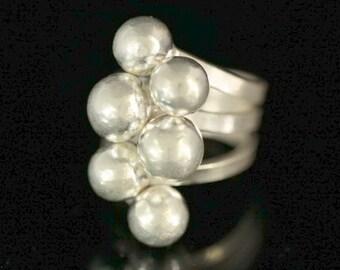 KY-043 thai karen hill tribe handmade silver ring