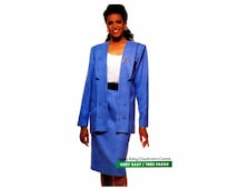 1980s Misses Jacket and Skirt See & Sew 3321 Vintage Sewing Pattern Loose Fitting Jacket Straight Skirt Misses Size 12 Bust 34