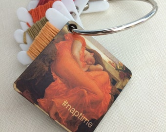 NAPTIME embroidery floss holder decorative thread ring Flaming June dmc bobbin organizer