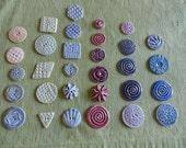 Lot of 31 Handmade Ceramic Buttons