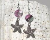 Starfish Earrings - Your Choice Stones