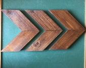 Smaller Size - Wood Arrow Wall Art Chevron Home Decor