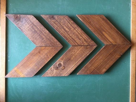 Chevron Wood Wall Decor : Items similar to smaller size wood arrow wall art