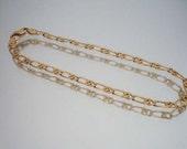14k Solid Gold Link Bracelet Figaro Style