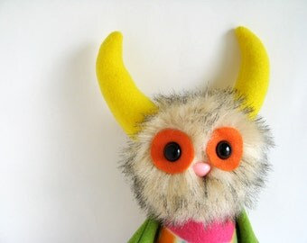 Kids Toys Stuffed Animal Monster Doll Plush Toy Handmade Toys Boy Gifts Girls Toys Gifts for Nephew Gift for Niece Colorful Toy