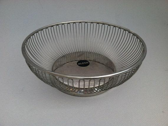Alessi 9 5 large round vintage fruit basket wire bowl - Alessi fruit basket ...