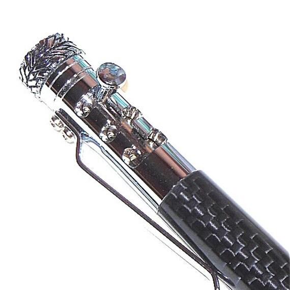Gear Shift Pen Carbon Fiber Pen With Chrome Trim Car
