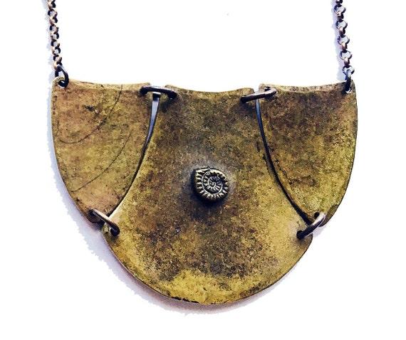 Hammered Collar - Brass